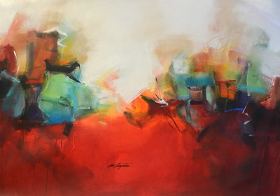 Abstract Red-Kempton, AERK, 44x64 on canvas JPG