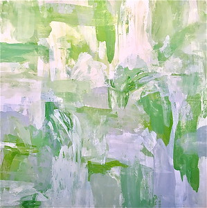 "Green with Envy-Hibberd 40""x40"" painting on canvas"
