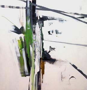 "Sakuska green-Haxton, 48""x48"" on canvas"