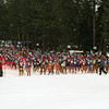 Racers prepare for the start of the 38th Anniversary Great Ski Race, March 3rd, 2013.