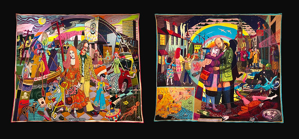 JULIE COPES' GRAND TOUR - TWO TAPESTRIES BY JASON PERRY