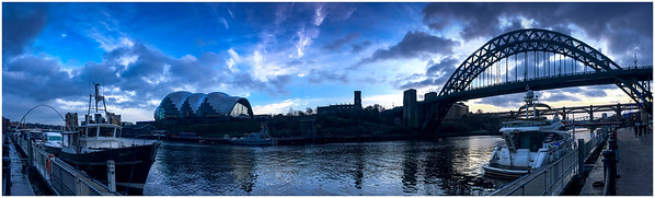 QUAYSIDE DUSK #1 - 180º PANORAMA - FIRST SHOT OF 2018