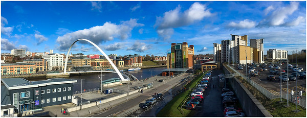 SPRINGTIME AT GATESHEAD MILLENIUM BRIDGE & BALTIC SQUARE