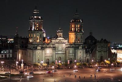 EL ZOCALO FROM THE GRAN HOTEL CIUDAD DE MEXICO