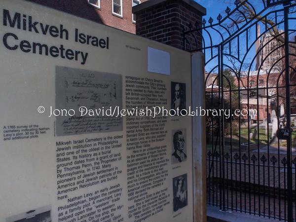 USA, Pennsylvania, Philadelphia. Mikveh Israel Cemetery (3.2017)