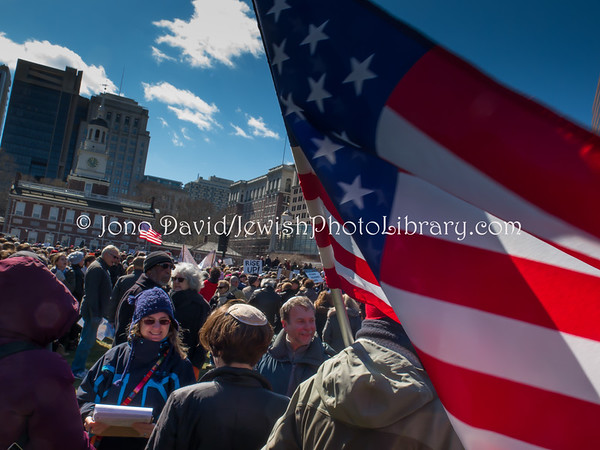 USA, Pennsylvania, Philadelphia. Stand Against Hate Rally, Independence National Historical Park (3.2017)