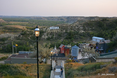 Medora Musical grounds from the top of the 7-story escalator