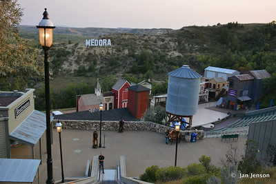 Medora Musical grounds from the middle of the 7-story escalator