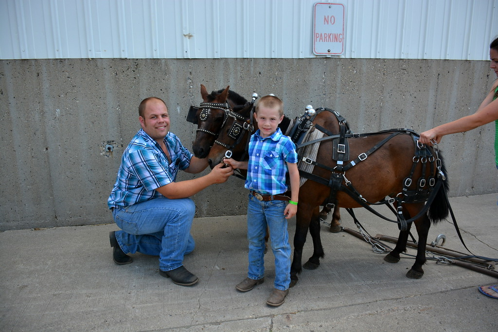 2017 ND State Fair - Pony pull contest - 7-22-17 - the winners