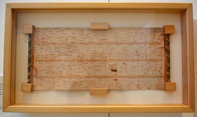 Pictogram on birch bark @ ND Heritage Center - August 1, 2017