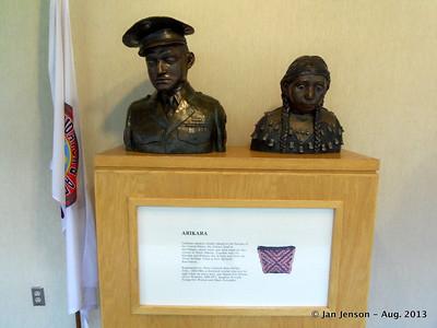 Bronze statues by Ida Prokop Lee in ND Heritage Center in Bismarck, ND