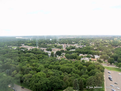 View from top of Capitol - Missouri River near horizon