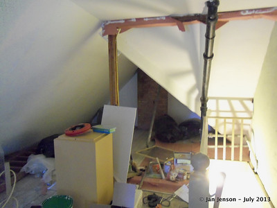 3rd floor attic - being remodeled into a children's play room