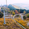 Near Stresa, a cable car and chairlift will take you up to the summit of this mountain. A restaurant and a roller coaster ride add interest.