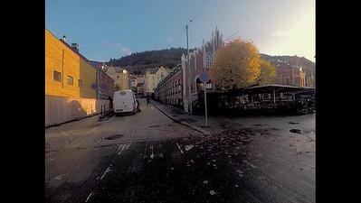 Walking around Bergen near the harbor