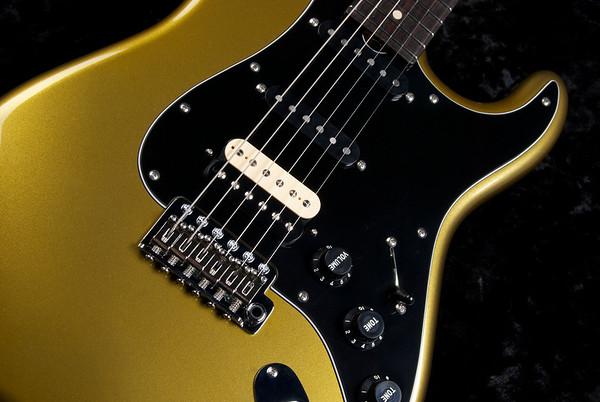 NOS Retro #3529 Black Gold Metallic, SSH 60's Fat, 327 Grosh Humbucker