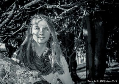 Portrait - B&W in a Tree