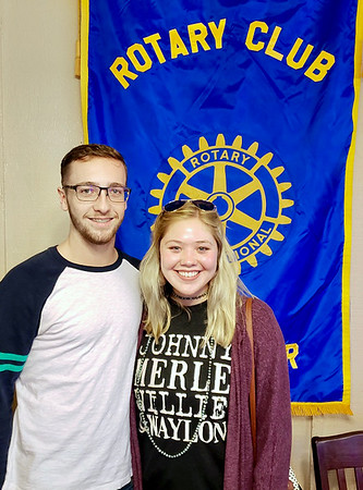 SUBMITTED PHOTO | <br /> McAlester Rotary Club has named McAlester High School seniors Trent Pickens, left and Jordyn Cook, right as the Rotary Club Students of the Week.
