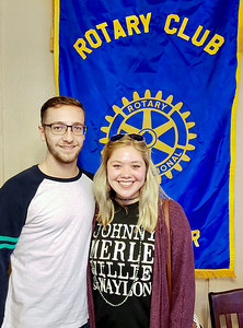 SUBMITTED PHOTO |  McAlester Rotary Club has named McAlester High School seniors Trent Pickens, left and Jordyn Cook, right as the Rotary Club Students of the Week.