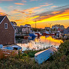 Sunset over Peggy's Cove