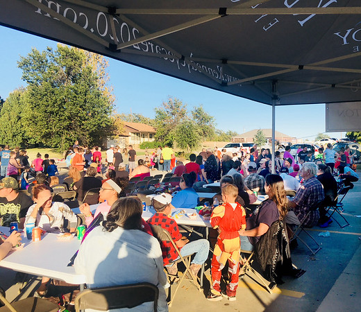 Submitted photo | <br /> Pictured are some of the hundreds of people showing up for the annual Kennedy Eye Ware Fall Festival that was free to the public.