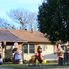 Kevin Harvison | Staff photo<br /> Thanksgiving is over and Christmas decorations will be popping up; a pilgram from a Thanksgiving display seems to wave good-bye.