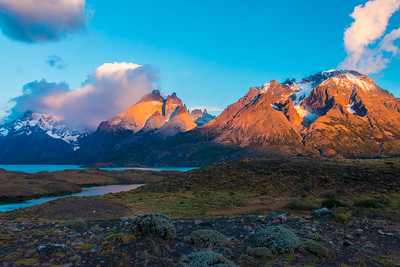 Sunrise, Torres Del Paine National Park, Chile