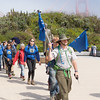 Packing the Parks 2016, The hikers from the North arrive at the Golden Gate Bridge Pavillion, July 24, 2016, Photo Credit: Kirke Wrench / NPS