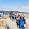 Packing the Parks 2016, The hikers walk along East Beach as they approach the finish line,, July 24, 2016, Photo Credit: Kirke Wrench / NPS