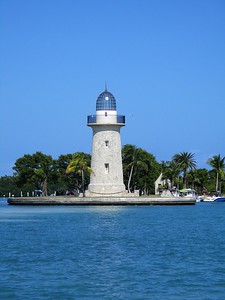 Ornamental light house on Boca Chita Key