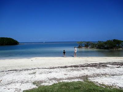 Swimming at Boca Chita Key