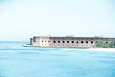 Dave forgot to adjust his camera setting so his photos of Fort Jefferson are a little washed out. (photo by Dave)
