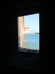 Looking out at Fort Jefferson