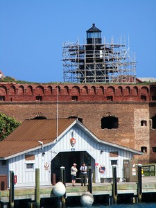 The lighthouse was closed and undergoing repairs