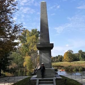 "At North Bridge, the site of the ""shot heard around the world"""