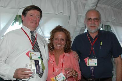 ISCET Immediate Past President Jim Fellows CET/CSM, Louise Ashby, and Mark Wentowski