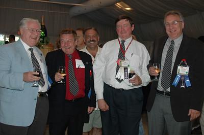 George Weiss CSM, EHF, Leo Cloutier CSM, Jim Fellows CET/CSM and Wayne Markman CET enjoy a laugh at the Welcome Reception.