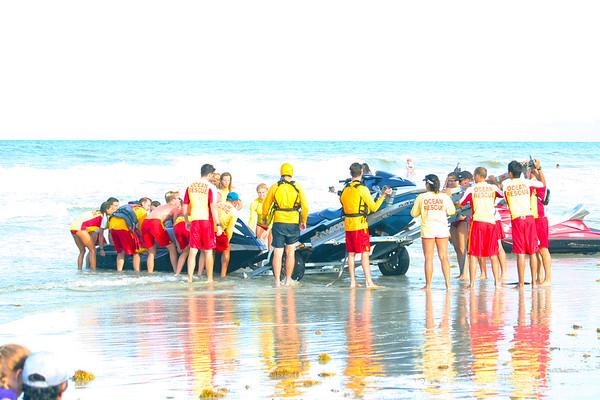 lifeguards, jetskis