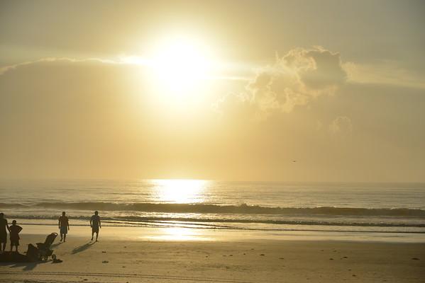 beach, sunrise