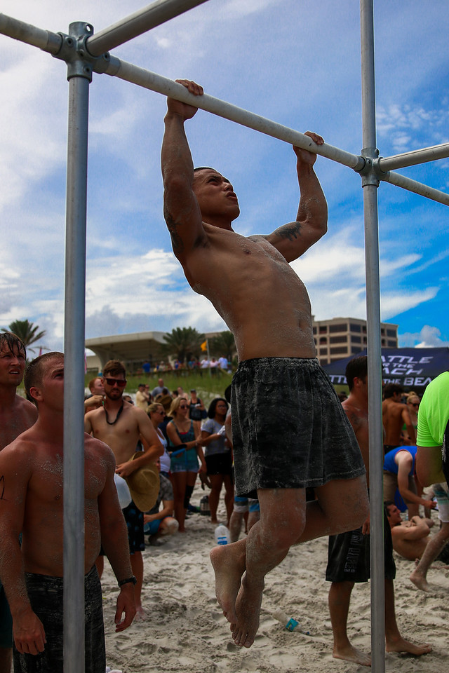 battle for the beach, battle, pull-ups