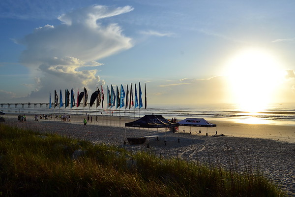 Sunrise, Set up, Flags, 2014