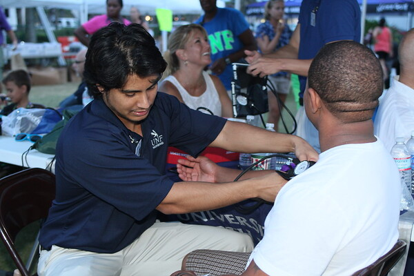 expo, volunteers, blood pressure, unf