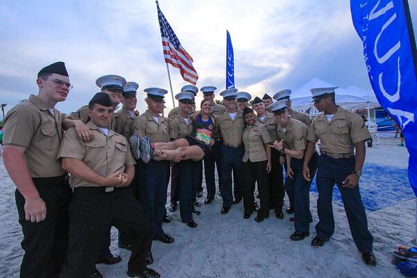 erin, marines, flags, blue carpet,