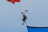 paratroopers, skydiver, flags