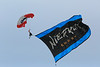 paratroopers, flag, skydiver