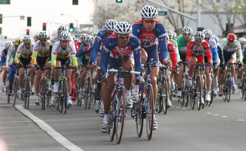 4730 Tony Cruz (Toyota-United Pro) leads the peloton
