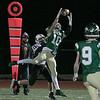 Nashoba Regional High School football hosted Groton Dunstable Regional high School on Friday night, Nov. 15, 2019. NRHS's #10 jack Bonazzoli intercepts a ball ment for GDRHS's #13 Doug Tompkins. SENTINEL & ENTERPRISE/JOHN LOVE