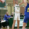 Nashoba Regional High School girls' basketball played Acton-Boxborough Regional High School on Thursday night in Bolton. NRHS's #2 Caylie McNahon. SENTINEL & ENTERPRISE/JOHN LOVE
