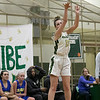 Nashoba Regional High School girls' basketball played Acton-Boxborough Regional High School on Thursday night in Bolton. NRHS's #13 Jillian Payne. SENTINEL & ENTERPRISE/JOHN LOVE
