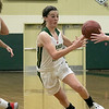 Nashoba Regional High School girls' basketball played Acton-Boxborough Regional High School on Thursday night in Bolton. NRHS's #11 Abby McNulty. SENTINEL & ENTERPRISE/JOHN LOVE